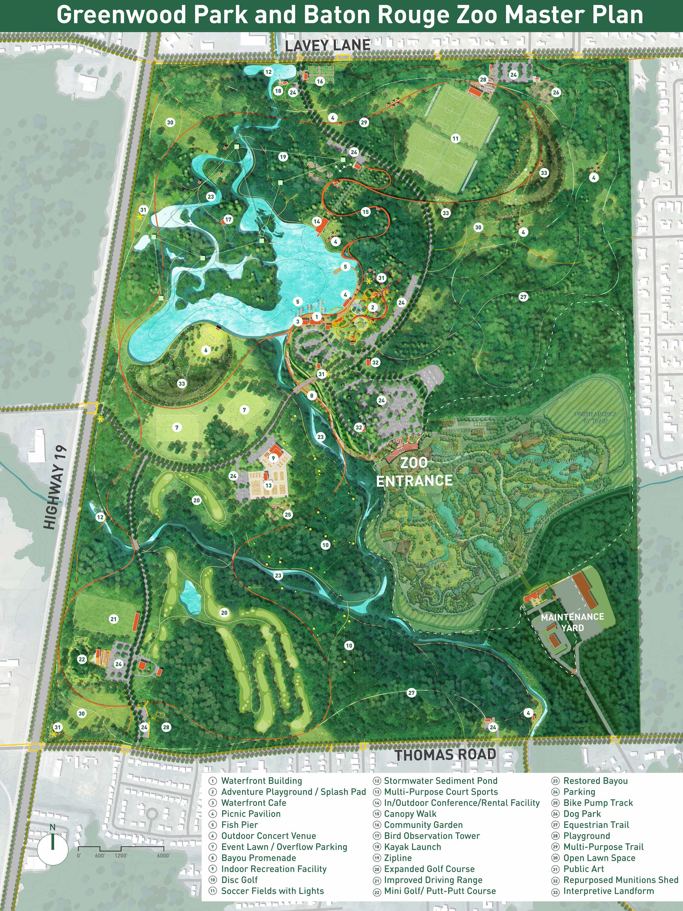 Greenwood Park and Baton Rouge Zoo Master Plan