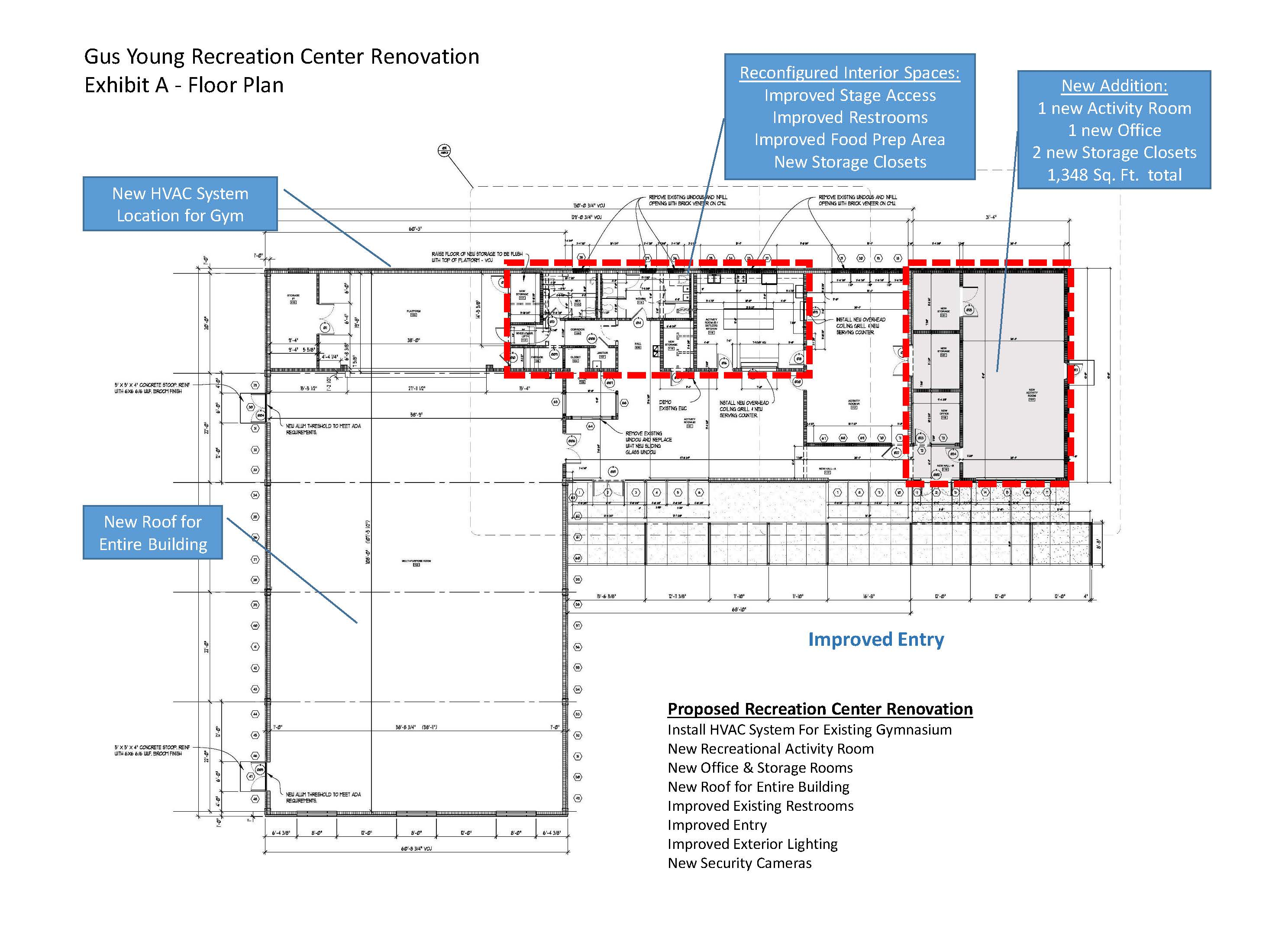 Gus Young Park 2017 Renovation Floor Plan