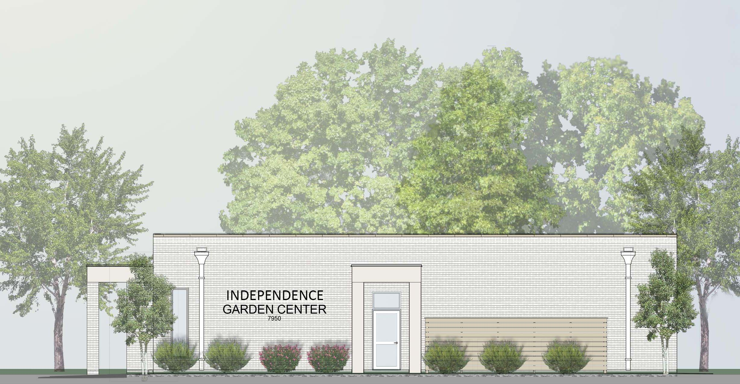 Rendering of renovated Garden Center at Independence