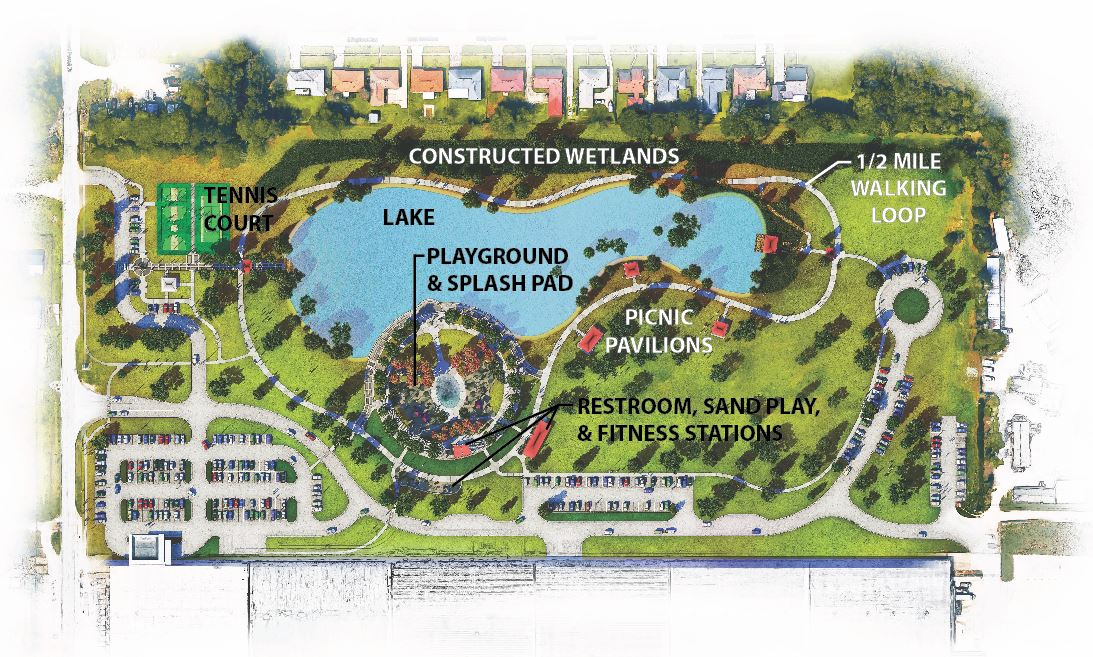 North Sherwood Forest Community Park Rendered Master Plan