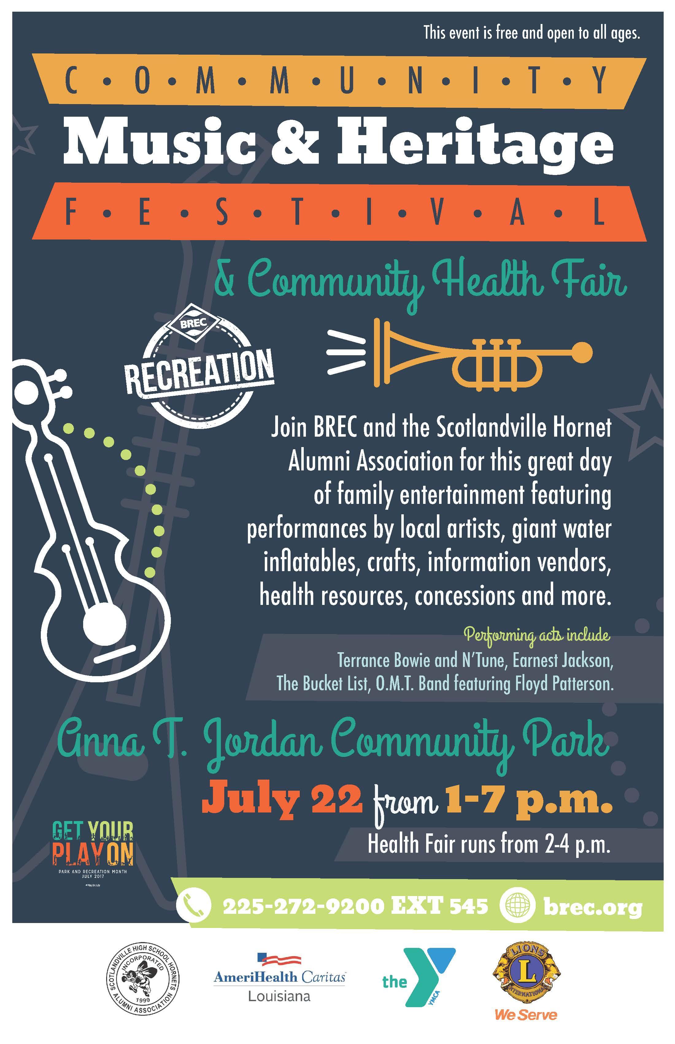Image result for Scotlandville Community Music and Heritage Fest